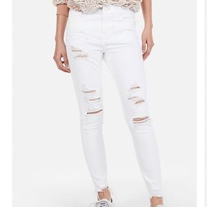 Express white torn jeans